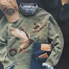 Duck Hunt   Sweater & Cap: Polo Ralph Lauren + Shirt: @CriquetShirts + Bracelet: Kiel James Patrick + Jeans: Resolute 710 + Wallet: Vermilyea Pelle + Shoes: Birkenstock Boston   IG: @jeffdepano