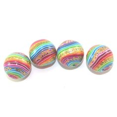 Stripes beads round beads for Jewelry Making beads by ShuliDesigns