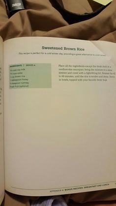 Sweetened Brown rice