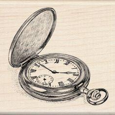 Pocket Watch - Rubber Stamp