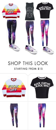 """Untitled #85"" by lilcrazy29658 ❤ liked on Polyvore featuring Nasty Gal and Converse"
