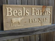 Personalized Family Name Sign Rustic Farm sign CARVED Custom Wooden Sign Custom Wedding Gift Established Personalized Family sign. $74.95, via Etsy.
