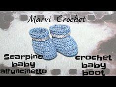 Scarpette uncinetto con PomPom - DIY baby chrochet pink Shoes - Full HD 1080p - YouTube