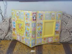 Sweet Little Yellow Patchwork Baby Book by Daysgonebytreasures on Etsy