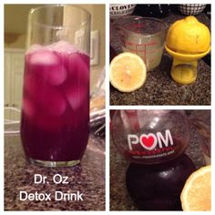 Dr. Oz 48-hour weekend cleanse - Super Easy - best detox ever! pomegranate and pineapple drink