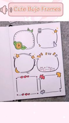 Bullet Journal Frames, Bullet Journal Lettering Ideas, Bullet Journal Banner, Bullet Journal Notebook, Bullet Journal School, Bullet Journal Ideas Pages, Bullet Journal Inspiration, Hand Lettering Art, Hand Lettering Tutorial