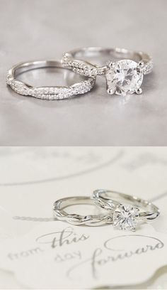 Love the timeless, unique feel of these vintage rings.