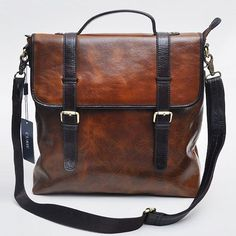 Gentleman Cowhide Satchel Cross Bag