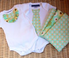 tutorials!  Perfect for a baby shower game. Give a table onsi ,pants ,and bib ,fabric and decorations and have them personalize