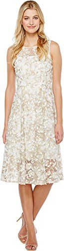 Adrianna Papell Women's 3d Lace Midi Fit and Flare - http://www.darrenblogs.com/2017/04/adrianna-papell-womens-3d-lace-midi-fit-and-flare/
