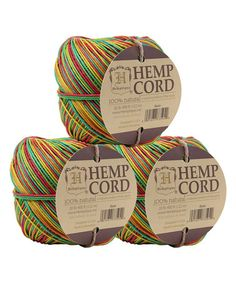 Look at this #zulilyfind! Rasta Hemp Cord Ball - Set of Three #zulilyfinds
