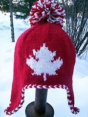 Going for gold! FREE Pattern Ravelry: Maple Leaf Earflap Hat pattern by Michele C Meadows hat kids ravelry Maple Leaf Earflap Hat Knitting Patterns Free, Knit Patterns, Free Knitting, Baby Knitting, Free Pattern, Charity Knitting, Knitting For Kids, Knitting Projects, Crochet Projects