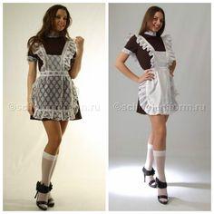 """Школьные фартуки в Shop Dress Вы решили пойти на последний звонок в школьной форме образца СССР но у вас уже имеется свое платье (возможно оно осталось от старшей сестры, или подруги, а может просто решили надеть """"маленькое черное платье"""" тогда советуем подобрать к платью белоснежный фартук В магазинах Shop Dress можно купить отдельно фартуки разных моделей."""