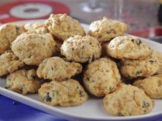 """Sausage-Cheddar Biscuits (Record Release Party) - Trisha Yearwood, """"Trisha's Southern Kitchen"""" on the Food Network."""