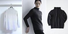 Женский свитер с описанием вязания спицами из книги Amirisu 2018, зима. Дизайнер Мегуми Савада.