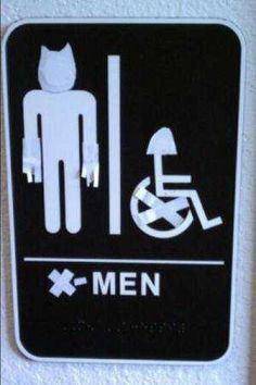 x-men bathroom...thank you for showing this, strong comes in all heights.