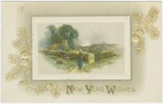 Image ID: 1587958  New Year wishes. (ca. 1909)