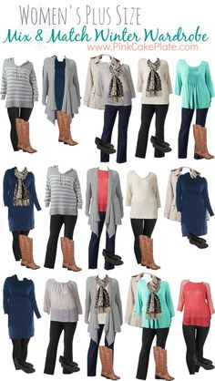 Plus Size Mix and Match Winter Fashion! Great Wardrobe Pieces!!...