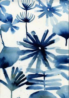 watercolour response for mark making Pattern Texture, Pattern Art, Pattern Design, Textile Patterns, Textile Prints, Print Patterns, Botanical Prints, Floral Prints, Art Graphique