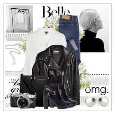 """""""Bien trouvè :))"""" by anne-977 ❤ liked on Polyvore featuring Linda Farrow, Cheap Monday, Topshop, H&M, MICHAEL Michael Kors, Pull&Bear, New Growth Designs, fallstyle, FashionMYWay and fall2015"""