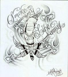 Evil Tattoo Flash Art | Tattoo Flash, Aztec, Evil, Gangster, Prison, Cars, Chineese, Women ...