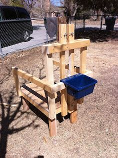 get my goats! easy to build goat milking stand Keeping Goats, Raising Goats, Goat Feeder, Goat Toys, Tire Lait, Goat Shelter, Goat Pen, Sheep Pig, Goat Care