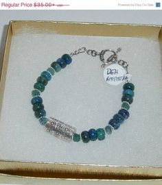 Sweetheart Deal 925 Sterling Silver Chrysocolla  by dsmenagerie