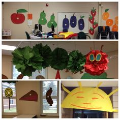 I am so proud of our The Very Hungry Caterpillar decorated room!