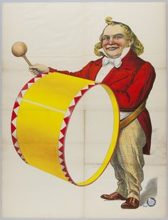 Clown with drum: (1891)