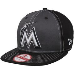MLB New Era Miami Marlins Snappin Pop Adjustable Snapback Hat - Black/Charcoal by New Era. $27.95. New Era Miami Marlins Snappin Pop Adjustable Snapback Hat - Black/CharcoalStructured fitSix panels with eyeletsContrast color panelsImportedOfficially licensed MLB productFlat bill100% CottonQuality embroideryAdjustable plastic snap strap100% CottonStructured fitAdjustable plastic snap strapFlat billQuality embroideryContrast color panelsSix panels with eyeletsImportedOffic...