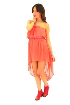 Athena Dress in Coral