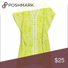 Lilly Pulitzer for Target Wonen's Kimono Cover-Up NWOT Lilly Pulitzer for Target Women's Kimono Cover-Up, Size Medium, in Boardwalk Cafe Lime green print. Never worn but I took off the tag. Lilly Pulitzer for Target Dresses