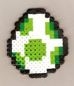 Green Yoshi Egg Perler Bead Magnet  Clearance Sale  by bloorox1225, $2.50