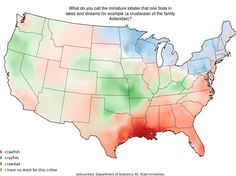 """Regional accents are a major part of what makes American English so interesting as a dialect. Joshua Katz, a Ph. D student in statistics at North Carolina State University, just published a group of awesome visualizations of Professor Bert Vouxs linguistic survey that looked at how Americans pronounce words."""