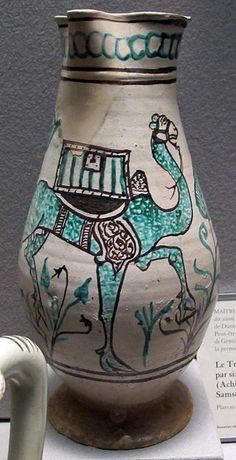 Orvieto (forse), brocca con cammello, fine del XIV secolo.JPG