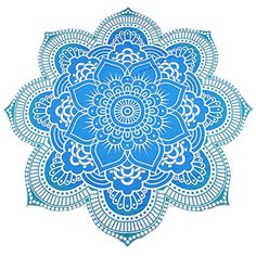 Vibger Flower Tapestry Travel Picnic Tablecloth Mandala Yoga Mat Beach Bikini Cover Up Beach Throw (Sky Blue) -- Read more reviews of the product by visiting the link on the image. (This is an affiliate link and I receive a commission for the sales)