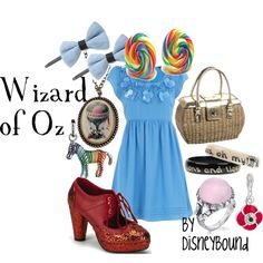 "Disneybound's Wizard of Oz - ""Lions and tigers and bears; oh my!"" NOTE: Wear silver shoes (like the original books) and NOT red ones (which are part of MGM's movie rights)..."