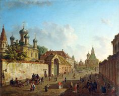 Grebnevskoy Church Mother of God and the Vladimir  gate in China city by Alekseev