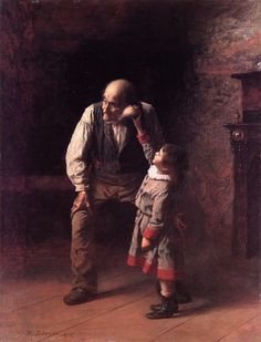 What the Shell Says (1875) - oil on paperboard. The de Young Fine Arts Museums, San Francisco, California.
