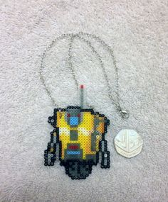 Claptrap Necklace by PixelPlastik on Etsy