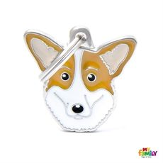 Show details for Cardigan Welsh Corgi Dog Tag Free incision  www.myfamily.it