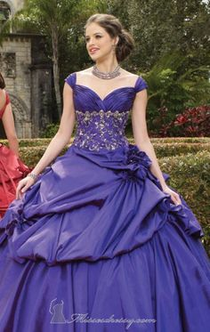 Sweetheart Ball Gown 15 year Cap Sleeves Royal Blue Quniceanera Dresses Vintage Debutante Gowns Vestido De Debutante Para15 Anos $179.00