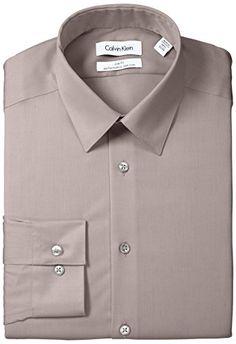 Calvin Klein Men's Slim-Fit Non-Iron Herringbone Solid Shirt