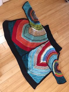 Ravelry: rebeccad6's Colorful Circular Motion Cardigan