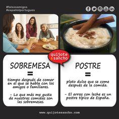 PORTUGUÉS / ESPAÑOL: sobremesa.