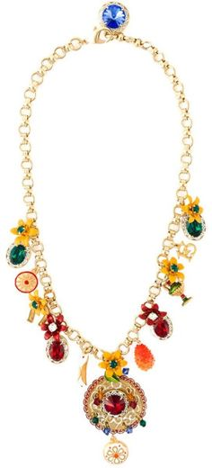Dolce & Gabbana   Multicolor Charm Necklace   Lyst