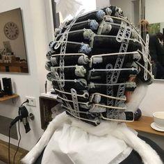 Getting A Perm, Perm Rods, Roller Set, Football Helmets, Hair Beauty, Perms, Leiden, Hair, Rollers In Hair