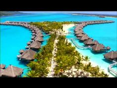 "One of Wealth Structures most ""Pinterest"" Places on the Web. Aerial views of the St Regis Resort Bora Bora. Going to heaven without the inconvenience of dying. A must go to destination to add to your bucket list of must go luxury hotel resorts in the world."