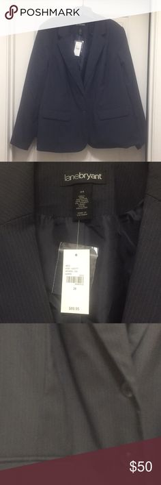 Lane Bryant dark gray pinstripe suit size 24 Brand new Lane Bryant pinstripe gray suit. Pants need to be ironed. Lane Bryant Other