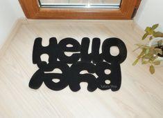 Hello / Bye. Design door mat. Custom rug. Floor mat in by Xatara, $40.00